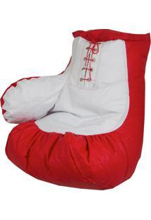 Puff Luva De Boxe Nobre Vermelho E Branco Stay Puff