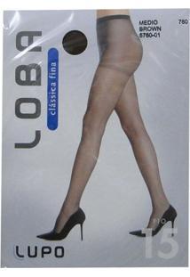 Meia Calça Lupo Loba - Feminino-Marrom