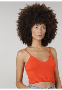 ec1dcc515ecf6f CEA Em Decote Finas Top Alças Laranja Cropped Tricô To V Feminino Dress