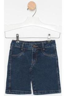 Bermuda Jeans Express Pedal Alicia - Feminino-Azul