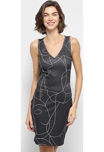 Vestido Lança Perfume Tubinho Curto Estampado - Feminino