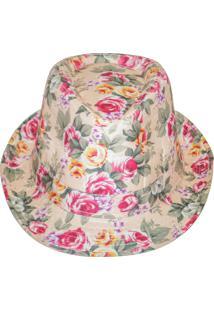Chapéu Real Arte Florido Bege.