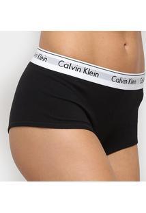 Calcinha Calvin Klein Boyshort Modern Cotton - Feminino-Preto
