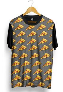 Camiseta Bsc Sliced Pizza Full Print - Masculino