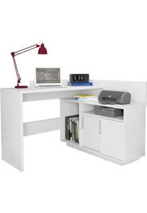 Escrivaninha Mega Office Branco-Acetinado Olivar
