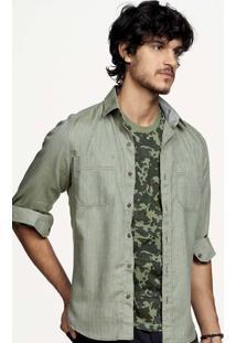 Camiseta Masculina Hering Na Modelagem Slim Com Estampa
