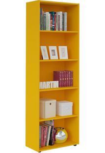 Estante Multy Para Livros E Objetos Amarelo Com 4 Prateleiras E 1 Nicho - Artely