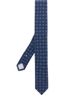Eleventy Gravata Com Estampa Floral - Azul