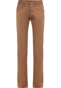 Calça Masculina Color Skinny - Marrom