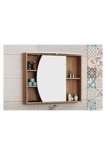 Armário P/ Banheiro Duna Nogal/Branco Bosi