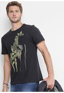 Camiseta Redley Estampada Masculina - Masculino-Preto