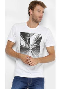 Camiseta Forum Estampada Masculina - Masculino-Branco