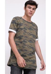 Camiseta Militar Em Moletinho
