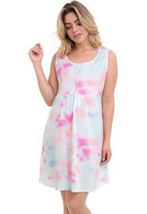 Camisola Maternidade Regata E Pós-Parto Tie Dye Luna Cuore Feminina - Feminino-Branco