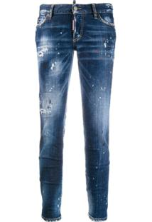 Dsquared2 Calça Jeans Skinny Destroyed - Azul