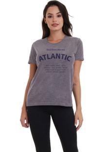Camiseta Jay Jay Básica Atlantic Soul Chumbo Dtg