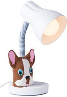Luminária Infantil Buldog - Startec - Branco / Marrom
