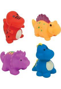 Jogo De Brinquedos Para Banho- Vermelho & Amarelo- 4Buba