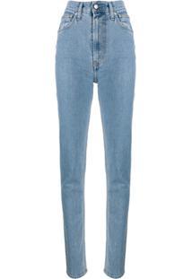 Helmut Lang High Waisted Jeans - Azul