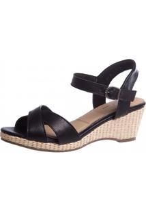 Sandália Anabela Doctor Shoes 613 Preto