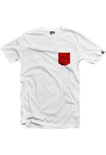 Camiseta The Garage Custom Tees Pocket Roses Branco