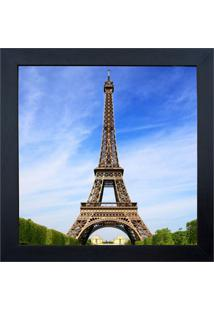 Quadro Em Madeira Com Vidro Torre Eiffel 27X27Cm