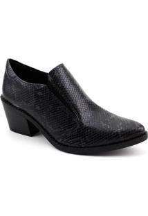 Ankle Boot Quiz Piton Feminina - Feminino-Cinza
