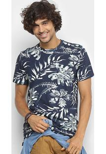 Camiseta Redley Estampada Folhagens Masculina - Masculino