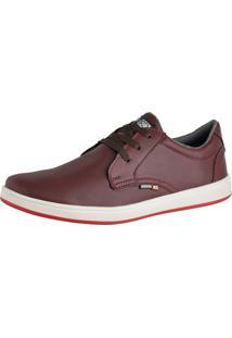 Sapato Casual Sapatênis Cr Shoes Com Cadarço 1510 Bordô / Vinho