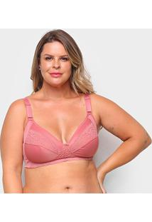 Sutiã Dilady Plus Size Anatômico - Feminino-Rosa Escuro