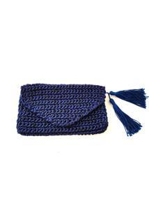 Clutch Elaine Massaro Noemi Azul-Marinho