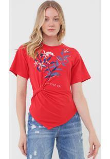 Camiseta Forum Estampada Vermelha - Vermelho - Feminino - Algodã£O - Dafiti