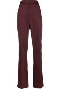 Calvin Klein 205W39Nyc Calça Xadrez - Vermelho