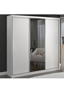 Guarda-Roupa Casal 3 Portas De Correr 1 Espelho 100% Mdf 8803E1 Branco - Foscarini