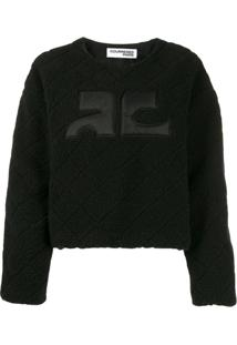 Courrèges Suéter Texturizado - Preto