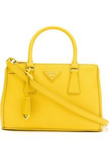 Prada Bolsa Tote 'Galleria' De Couro - Amarelo