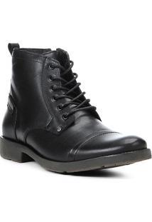 Bota Coturno Shoestock Couro Masculina