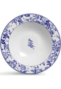 Jogo De Pratos Ceramica Fundos Blue Garden 6Pcs Cj1