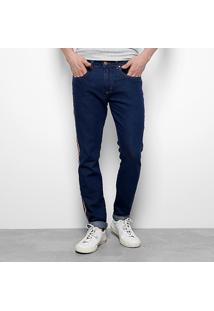 Calça Jeans Skinny Calvin Klein Listras Lateral Masculina - Masculino