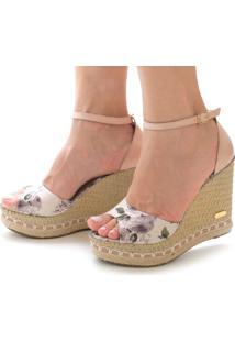 Sandália Anabela Sb Shoes Ref.3201 /Floral - Kanui