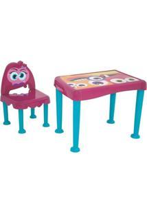 Mesa Com Cadeira Monster- Rosa & Azul- 2Pã§S- Tratramontina