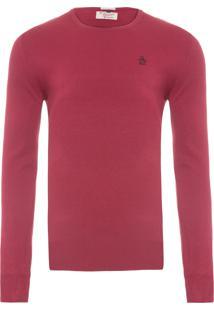 Blusa Masculina Tricot Fechado Liso - Vinho