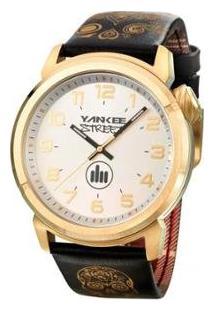 Relógio Yankee Street Feminino - Ys30443B - Feminino-Preto+Dourado