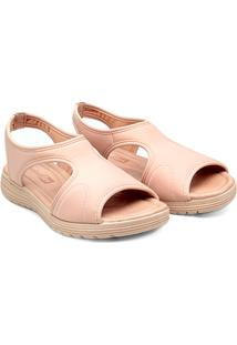 Sandália Papete Comfortflex Feminina - Feminino-Nude