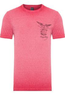 Camiseta Masculina Flamê - Vermelho