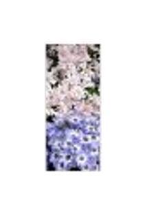 Adesivo Decorativo De Porta - Margaridas - Flores - 390Cnpt Auto Colante