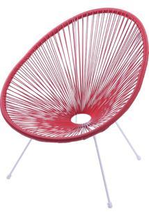 Cadeira Acapulco Or-1160 – Or Design - Vermelho