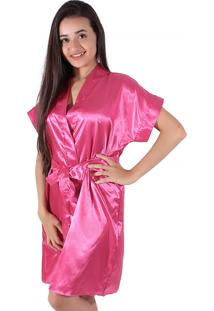 Robe De Cetim Linha Noite Pink