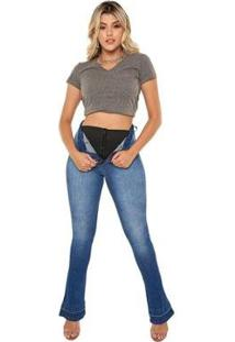 Calça Jeans Linda Z Boot Cut Lipo Z 201623058 Azul 46 - Feminino