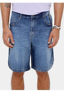 Bermuda Jeans Ellus 2Nd Floor Denim Stone Reta Masculina - Masculino